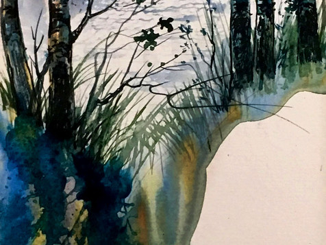 Trees on water
