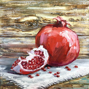 Pomegranate on a Table