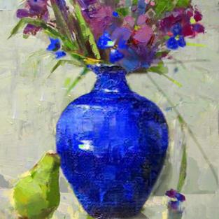 lue Vase