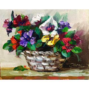 Bright Flowers in the Basket