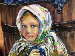 Moldovian Girl with Harvest
