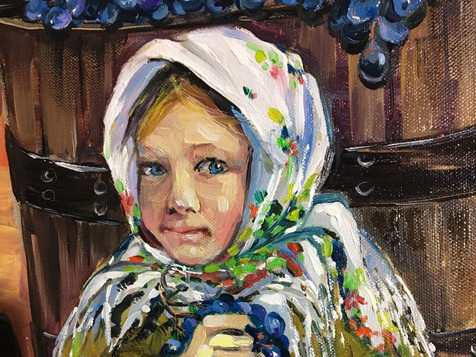Moldovian Girl with Harvest