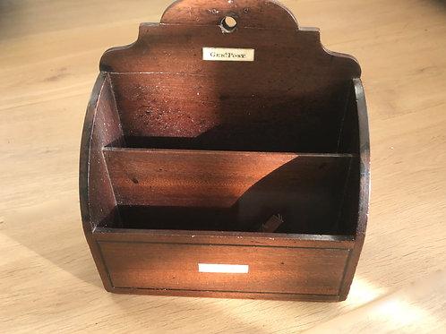 Antique Mahogany Letter/ Stationery Rack