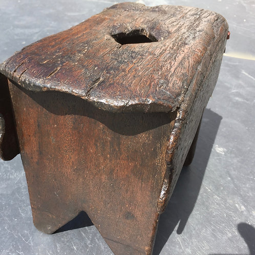 A Late 17th/ Early !8th Century Oak Stool