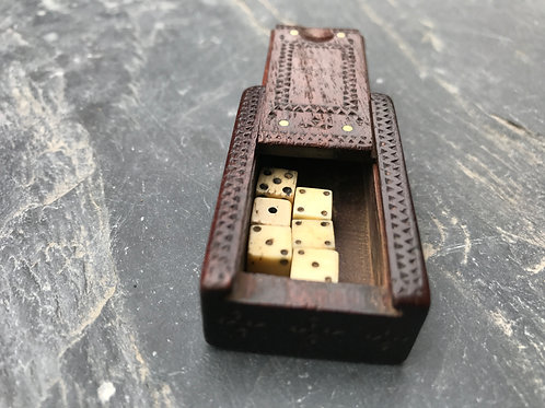 A Small Dated Dice or Pin Box
