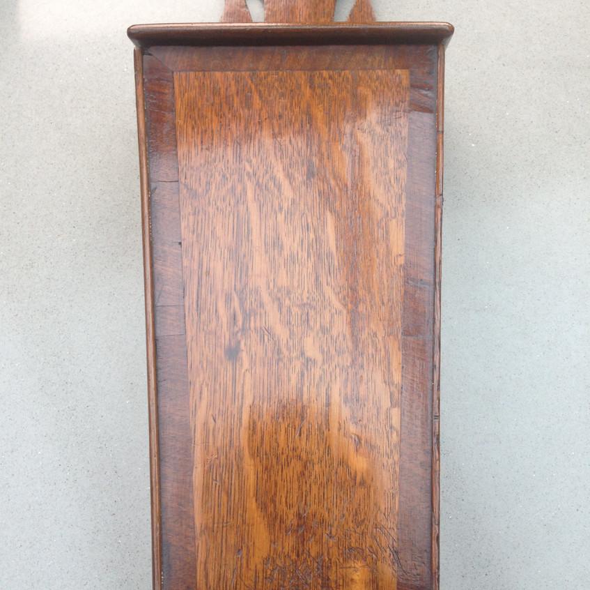 Antique candle box oak + crossbarding