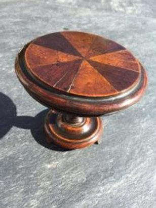 19th century antique treen mini tilt top table