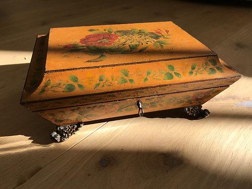 Antique Regency Painted Card Box