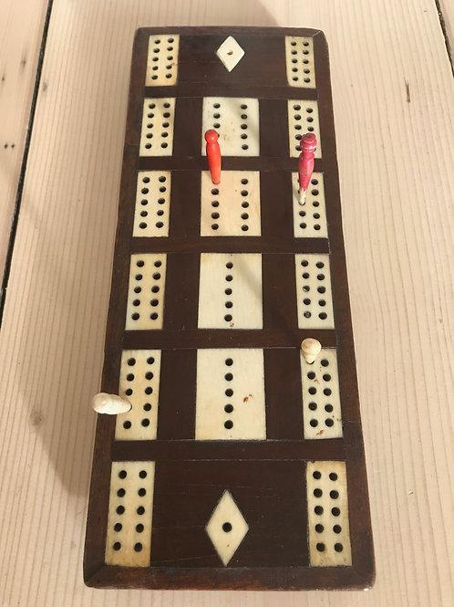Antique Cribbage Board