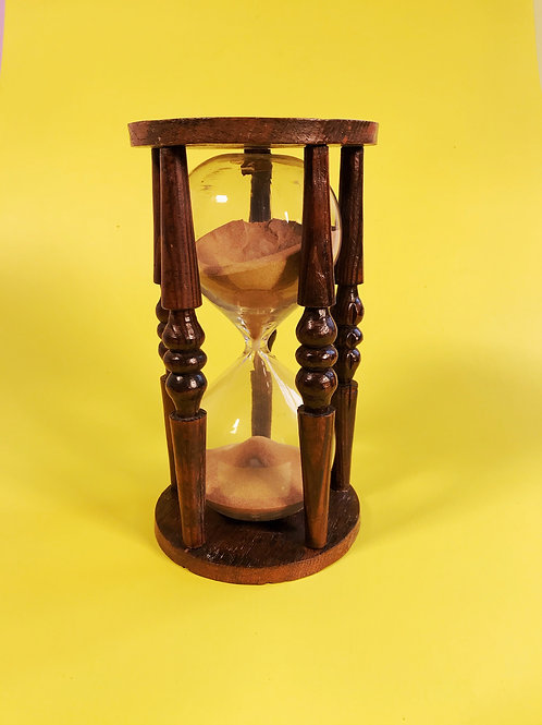 A Large Antique Glass Sand Timer