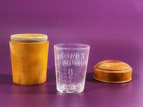 Antique Treen Beaker Case & Beaker