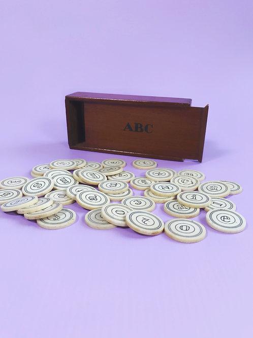 Antique Alphabet Box