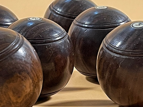 A Complete Set Of Antique Mini Carpet Bowls