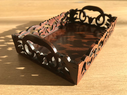 Antique Rosewood Desk Tidy Tray