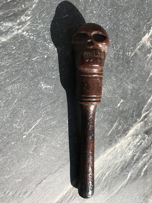 Antique Skull Pipe Tamper/Stopper