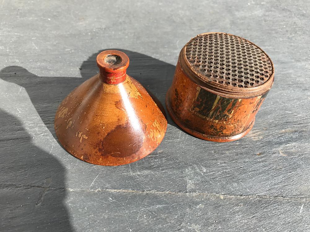 Antique Tunbridge Ware nutmeg grater, Opus Antiques, Devon, UK
