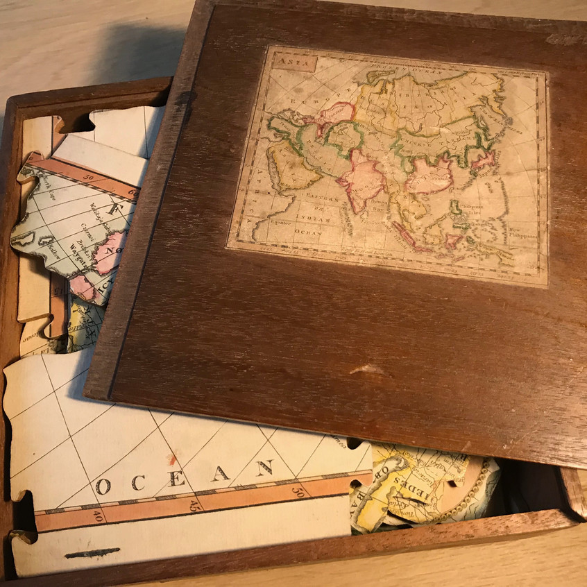 antique treen game for sale Opus Antique
