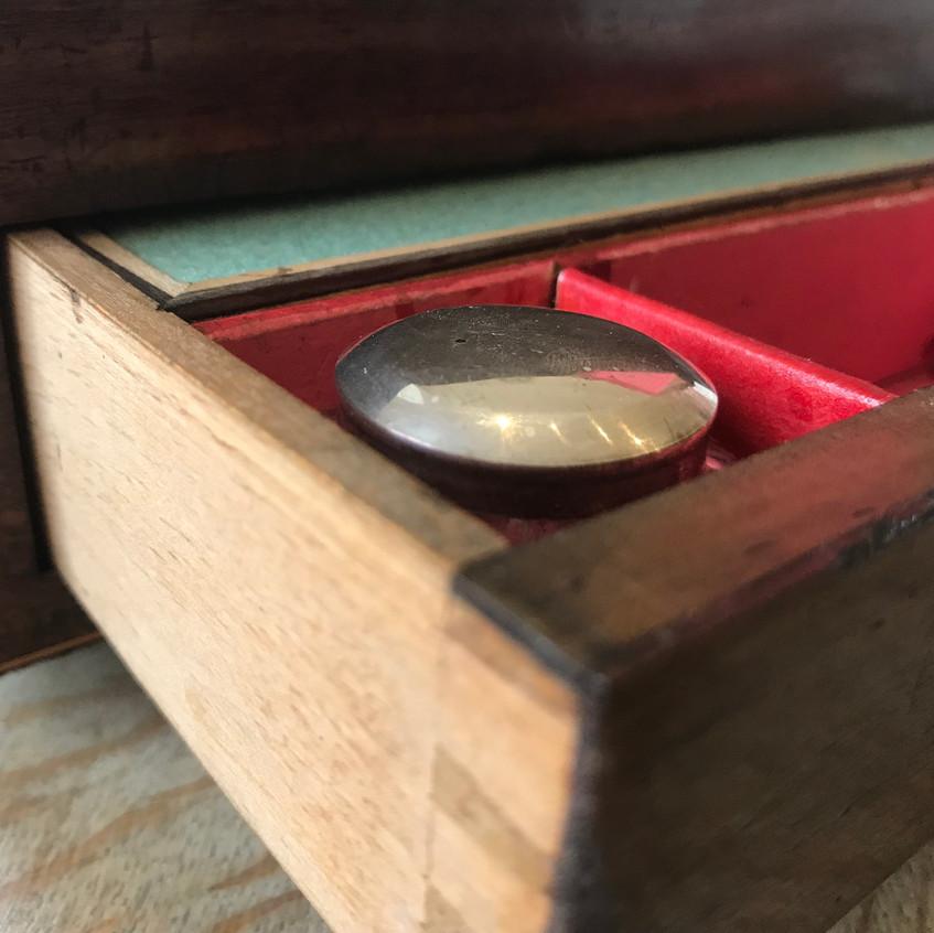Antique Tunbridge ware sewing and writin