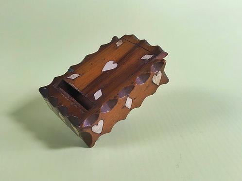 Antique Yew Wood Snuff Box