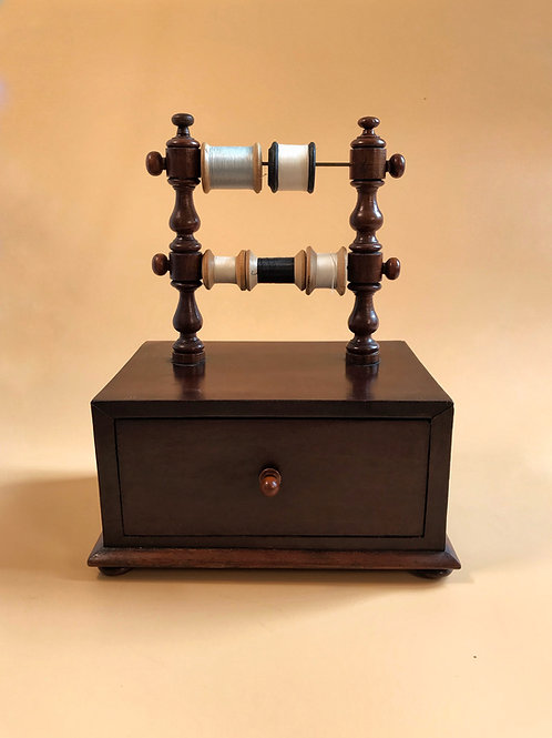 Antique Sewing Bos & Reel Stand