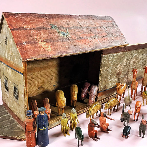 Antique Noahs Ark - over 150 animals and birds