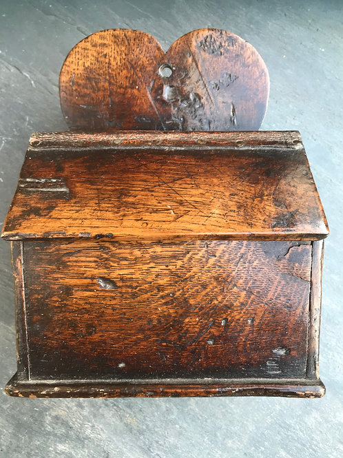 Antique Salt Box - heart back board