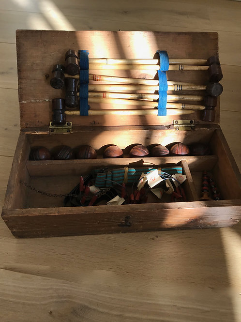 Antique Miniature Croquet Set - Parlour Game