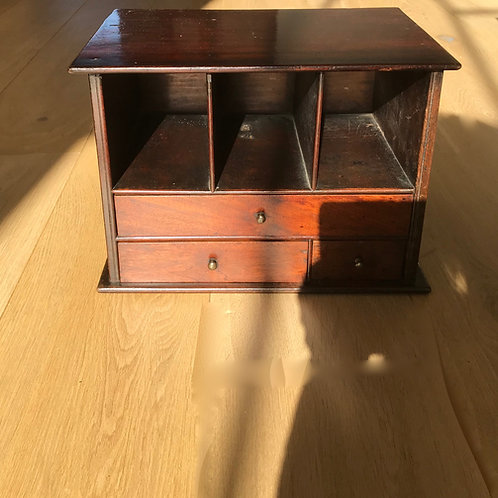 Antique Georgian Mahogany Stationery Holder