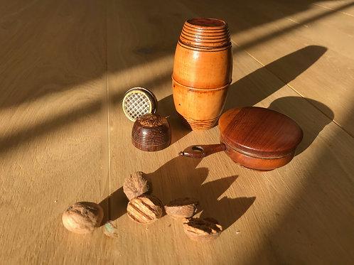 Antique Treen Nutmeg Graters