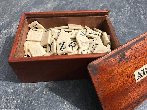Antique Victorian Alphabet Set