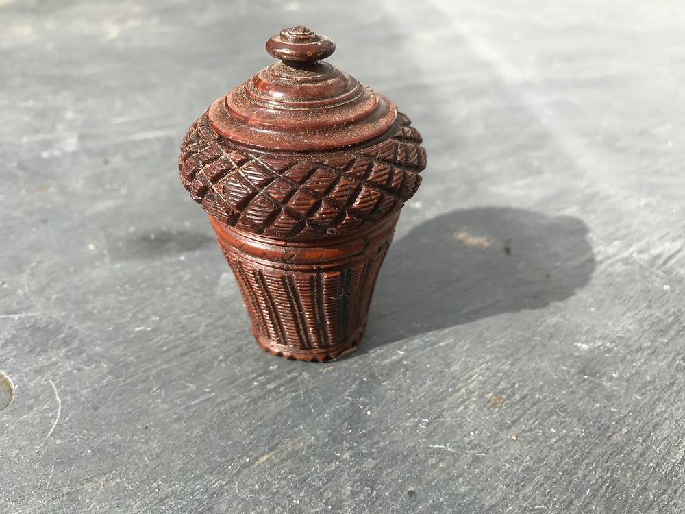 Antique coquilla nutmeg grater, Opus Antiques, Devon UK