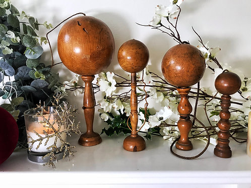 Antique Treen Bilboquets or Ball and Cup Games