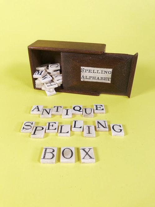 Antique Spelling & Alphabet Box