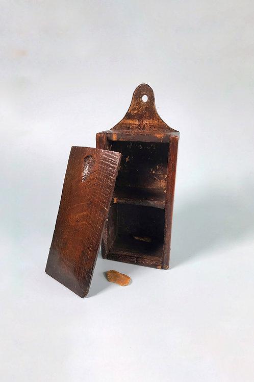 Antique Oak Tinder Box