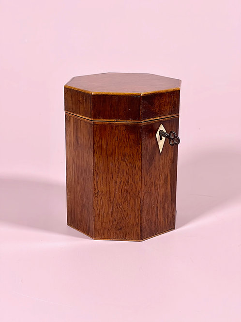 A Georgian Octagonal Tea Caddy