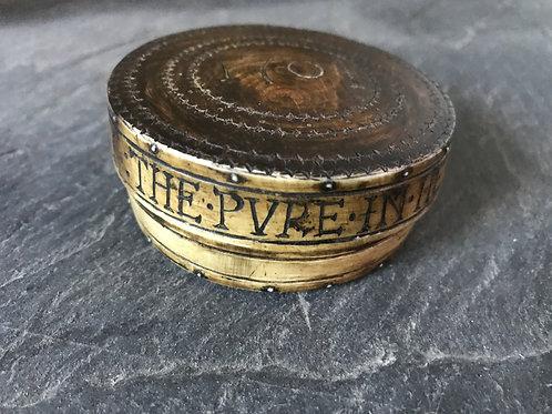 A Rare Wood & Horn Snuff Box - 1704
