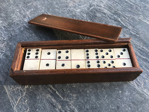 Antique Boxed Dominoes