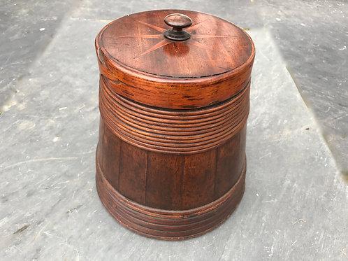 An Unusual Antique Mahogany Staved Barrel