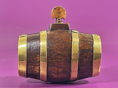 Antique Treen Mini Costrel