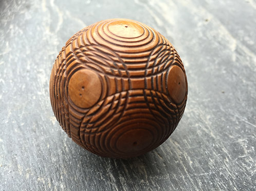 An Antique Puzzle Ball - for storage of snuff, rouge