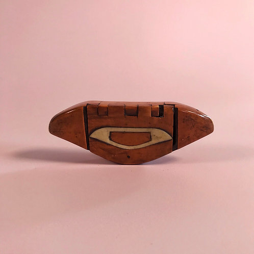 Antique Tatting Shuttle Snuff Box