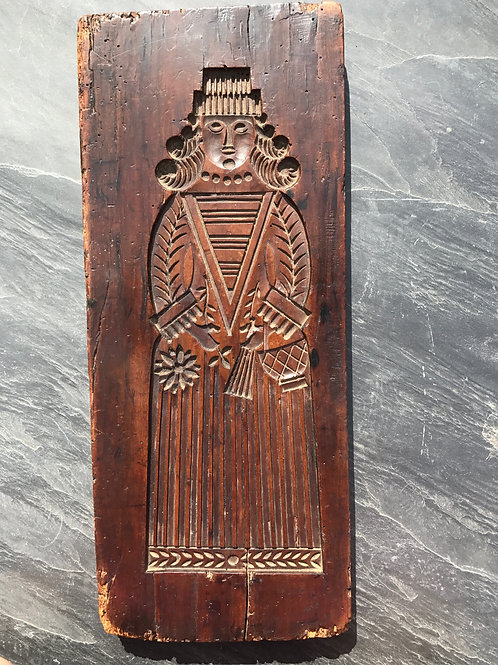Antique  Fruitwood Gingerbread  Mould - Double sided