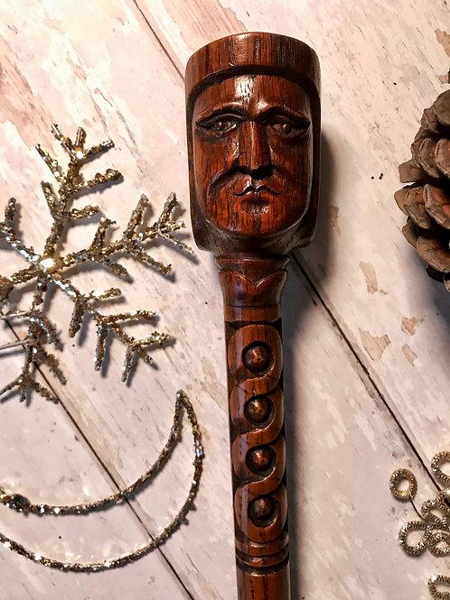 Antique Carved Toasting Fork