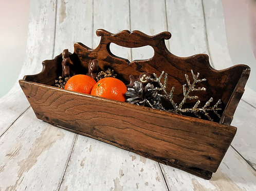 Antique Elm Cutlery Tray