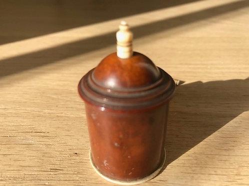 Antique Coquilla Nut Tape Measure - Original Tape