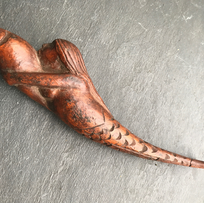Antique treen knitting sheath, for sale opus antiques UK4