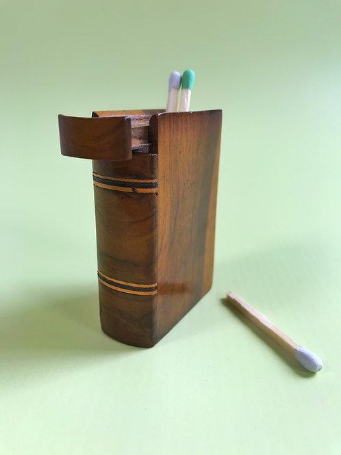 Antique Treen Vesta Box