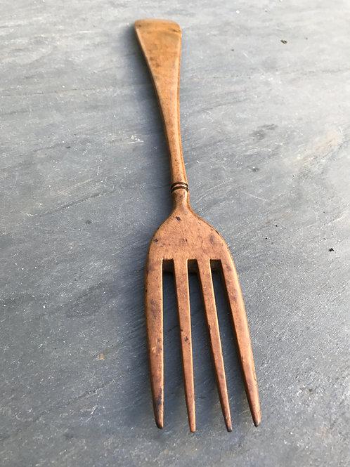 A Rare 18th Century Fruit wood Fork
