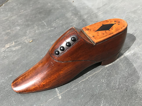 A Fabulous Table Antique Snuff Shoe Box