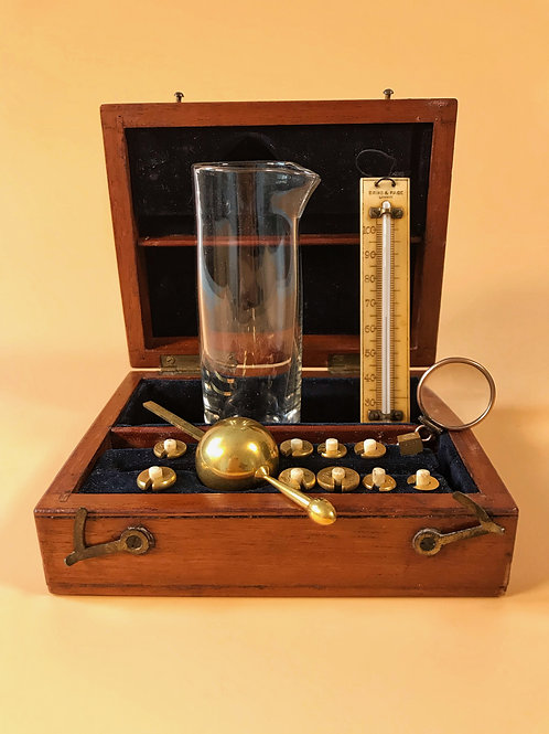 A Complete Antique Sikes Hydrometer